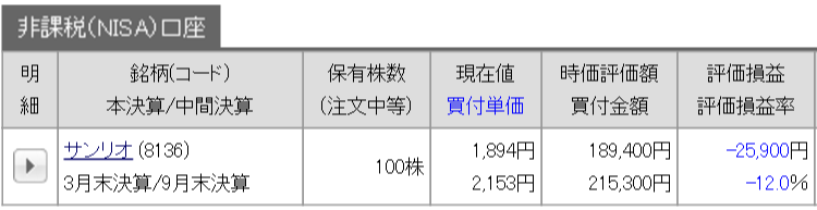 8/14 持ち株報告