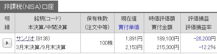 10/08 持ち株報告