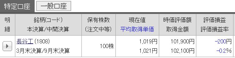 10/23 持ち株報告