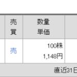 琉銀株売却